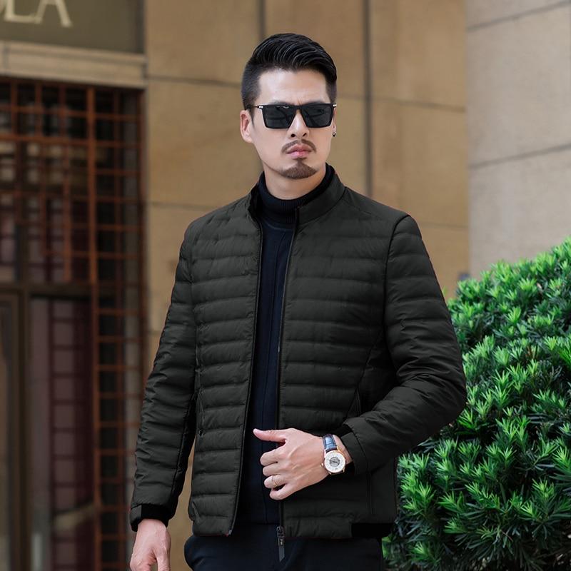 4 couleurs surdimensionné 7XL hommes Parkas 2019 hiver nouveau hommes doudoune col montant Design Zipper garder au chaud manteau L-XXXXXXXL 8722
