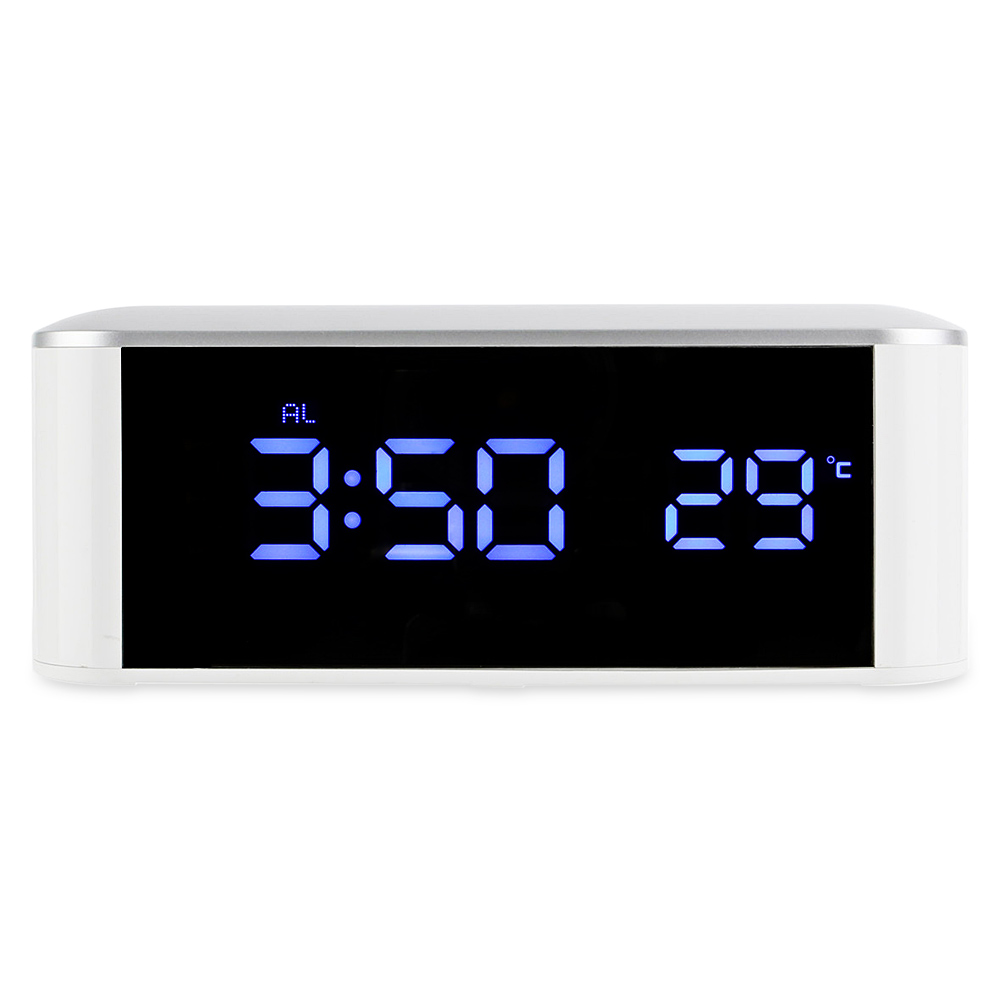 Computer Cables & Connectors New Blue Backlight Digital Alarm Electronic Desktop Table Led Clock Watch Snooze Reloj Led Displays Time Electronic Adapter Tool