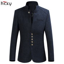 HCXY 2019 Mens Retro Chinese collar casual Suit jacket men Business blazers large size jackets coat M-6XL