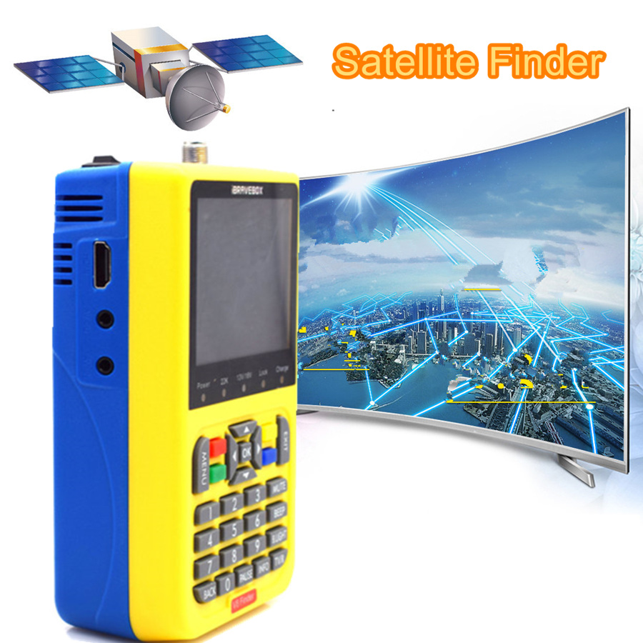 Lcd digital satellite finder signal meter DVB-S2 <font><b>Tv</b></font> Empfänger satfinder für decodificador <font><b>tv</b></font> satelital <font><b>gratis</b></font> HD <font><b>TV</b></font> Antenne image