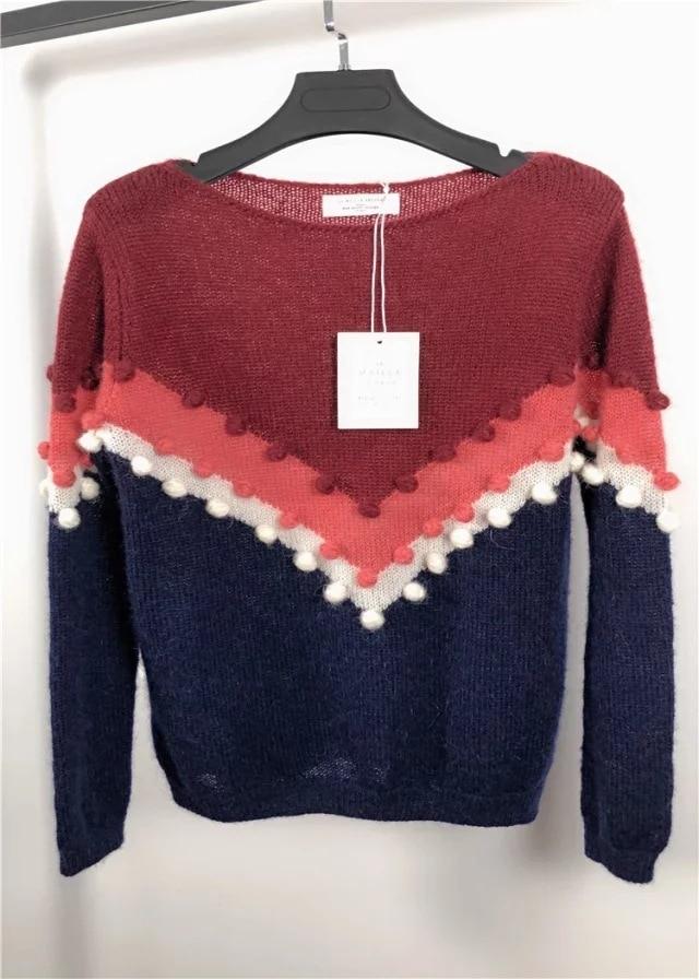 Frauen Pullover 2019 Neue Mohair Wolle Mischung V förmigen Kontrast Quaste Pullover-in Pullover aus Damenbekleidung bei  Gruppe 1