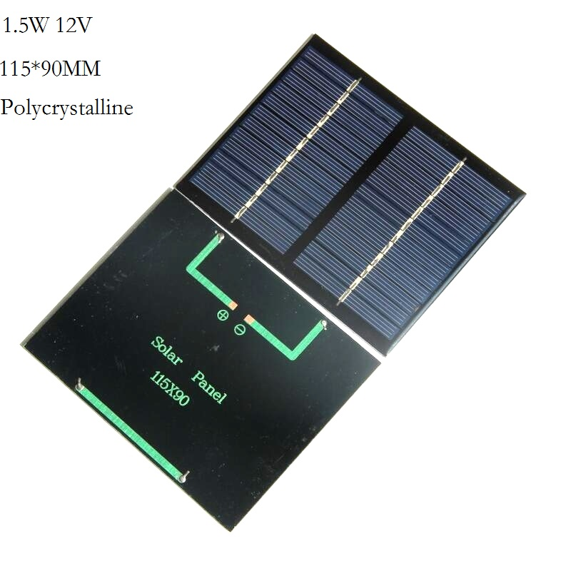 BUHESHUI polycrystalline Monocrystalline Mini 0.15W 0.5W 0.6W 1W 1.2W 1.5W 5V 2.5V 6V 12V Solar Cell Solar Panel Module For LED
