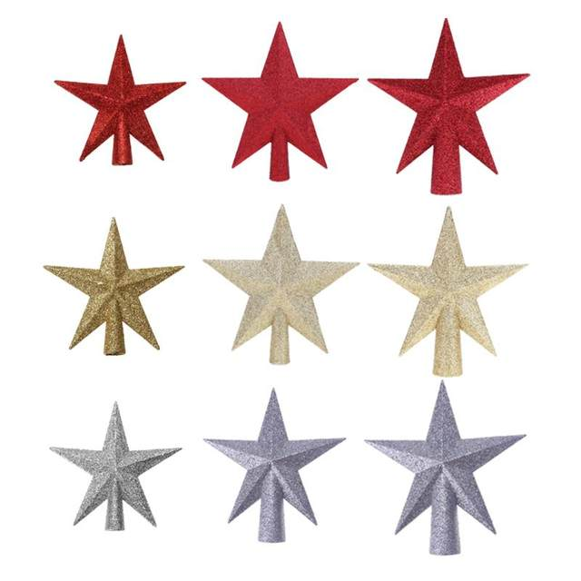 Christmas Tree Top Stars Pine Garland Sparkle Ornament Christmas Decoration for home Christmas Tree Ornament Topper Party Decor 15