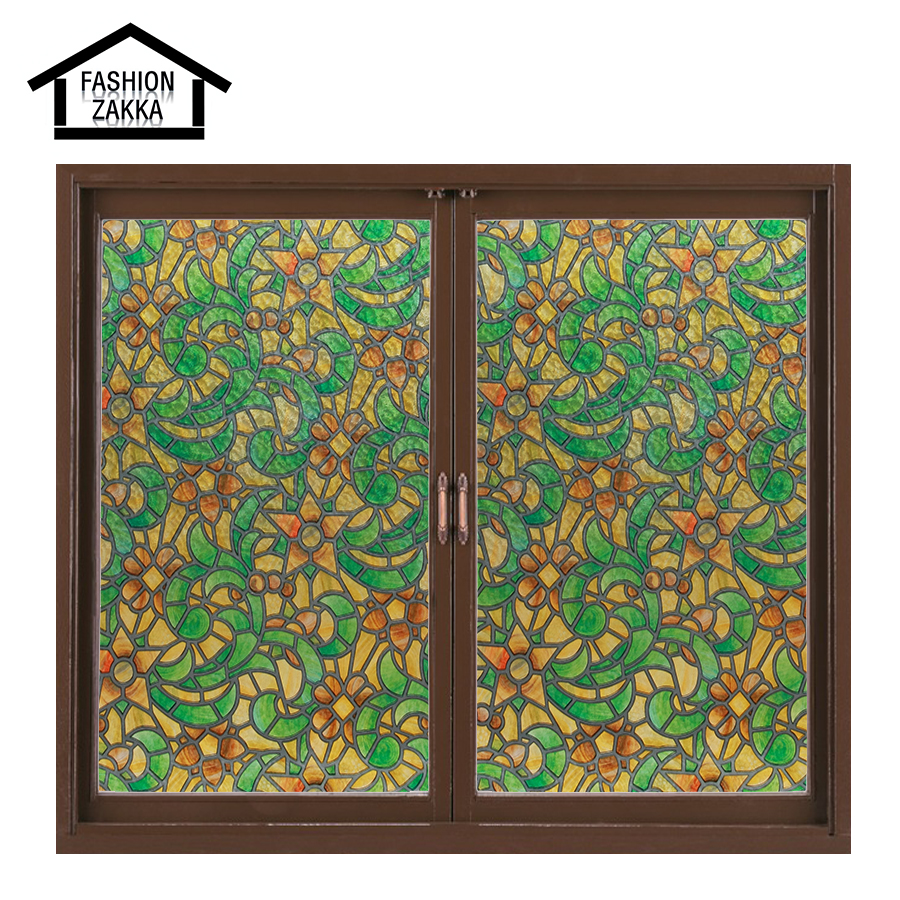 Hot variety flowers european church style stained glass for Decorative stained glass windows