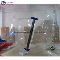 2m walk on water transparent inflatable ball,1.00mm PVC inflatable water walking ball for pool