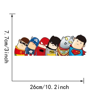 Image 4 - Car Styling Super Hero Hitchhike Save The World Moto Stickers Motorcycle Decal Funny Cartoon Reflective Car Sticker Accessories
