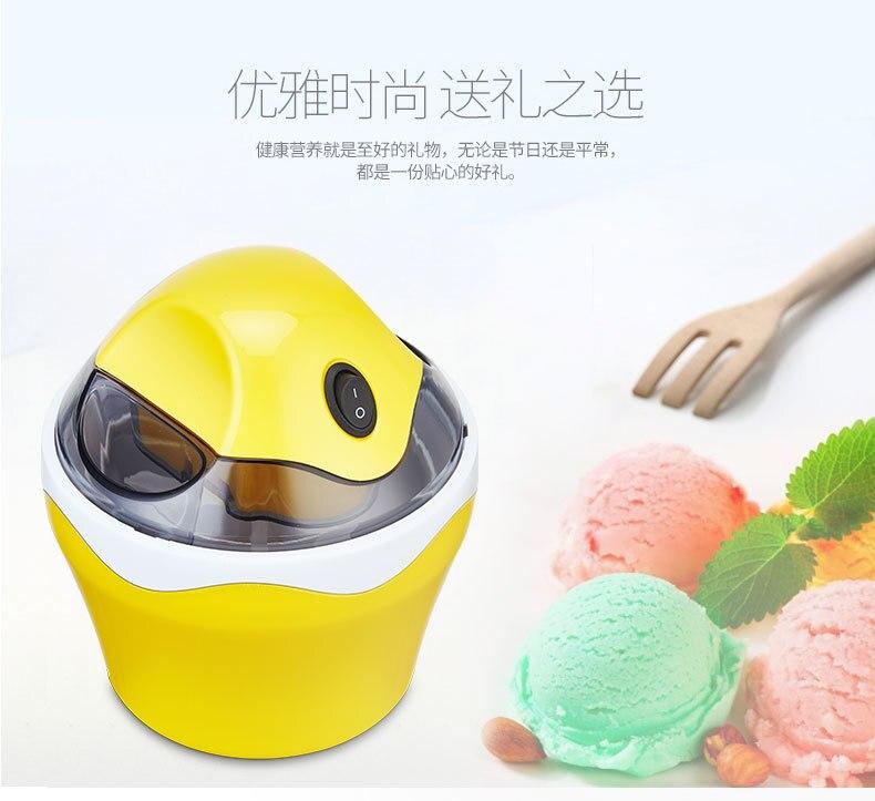 Ice Cream Machine Household Small-sized Fully Automatic Children Self-control Do Fruits Ice Cream Ice Cream Make Machine 12