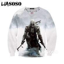 0e8f0e37584c LIASOSO New Fashion 3D Print Men Women Anime Assassins Creed Sweatshirt  Casual Unisex Long-sleeve