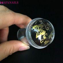 Прозрачный силиконовый стемпер для ногтей, 2,8 см, 1 шт.