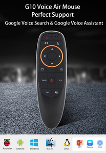 Image 2 - G10 Gyroscope Air Mouse Mic Microphone Google Assistant Voice Search IR Learning Remote Control For Android Smart TV Box