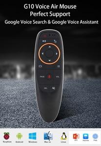Image 2 - G10 żyroskop Air Mouse mikrofon asystent Google wyszukiwanie głosowe IR pilot zdalnego sterowania dla systemu Android Smart TV Box