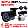 Free Shipping HD 1 4 Cmos 1200TVL Small Outdoor Waterproof Ip66 CCTV Security Ahdl Mini Camera