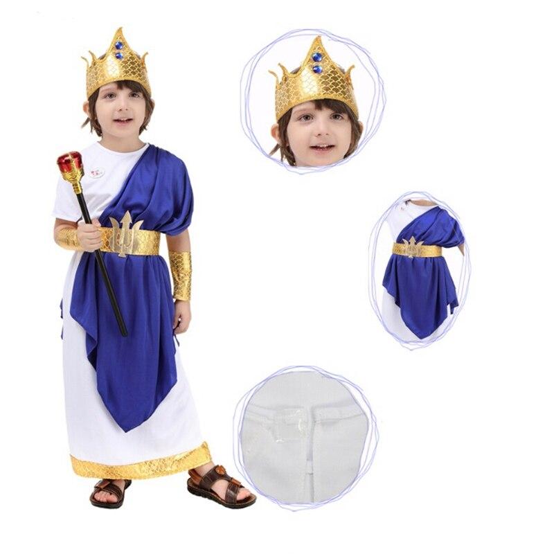 Halloween Party Cosplay Costumes Poseidon Costume For Kids Halloween Costumes For Children