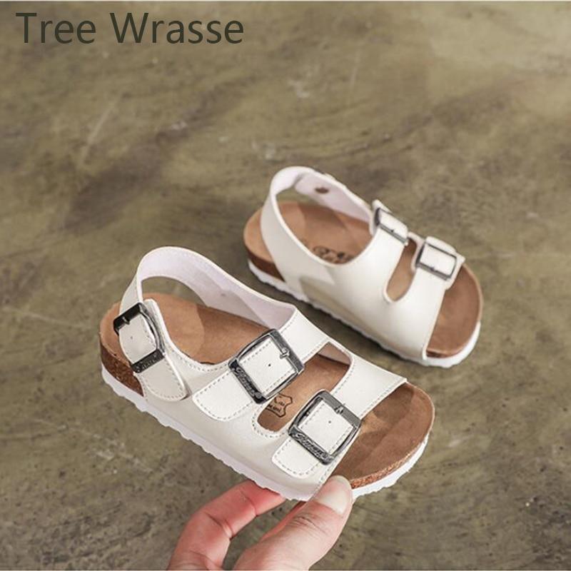 Arbre Wrasse bébé fille chaussures enfants liège sandales 2018 été nouveau garçon parent-enfant pantoufles filles respirant antidérapant sandales
