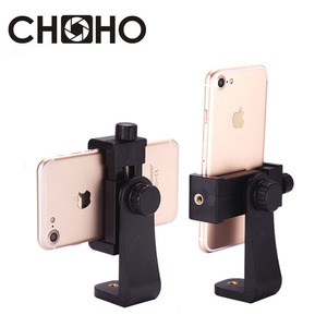 Phone Holder Rotation Tripod Stand 1/4 inch Screw Hole Selfie Stick Phone Big Clip Accessories For Iphone X XS 8 7 6 Plus Huawei