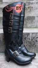 Anime shoes 블랙 버틀러 쿠로시 츠지 undertaker cosplay boots(China)