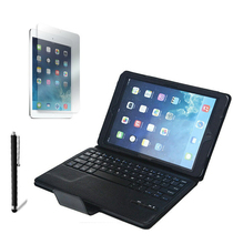 1x Screen Protector +Stylus , Detachable Wireless Bluetooth Keyboard Leather Stand Case Cover For Apple iPad Air 1 Air 2 iPad5 6