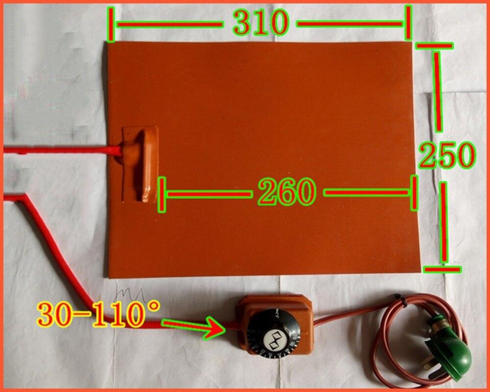 250 * 310mm 220V 300W 1,8MM pogas temperatūras kontroles FPB - Mājsaimniecības preces - Foto 1