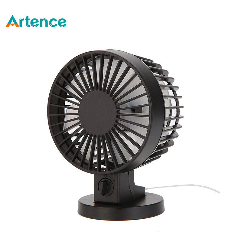 Portable Creative Double-vane Mini USB Desk Fan For Home Office ABS Electric Desktop Computer Fan With Double Side Fan Blades