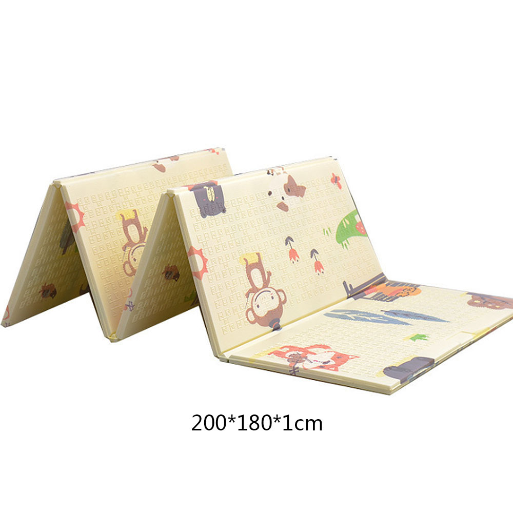 MrY tapis de jeu bébé tapis de jeu Xpe matériel Puzzle tapis pour enfants épaissi bébé chambre ramper Pad tapis pliant bébé tapis - 3