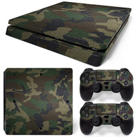 Camouflage Decal Skins for Ps 4 Slim for Playstation4 Slim for ps4 slim Vinyl Sticker Case Ball