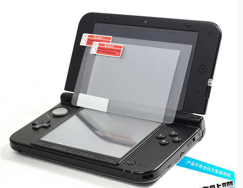 Game accessories For Nintendo New 3DSXL/LL Ultra Thin Film Tempered Glass Film Screen Protector + One Hand strap