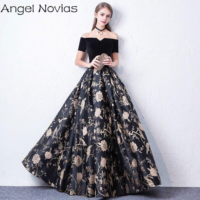 Long Black Celebrity Dresses 2018 Corset Back Sleeveless V Neck Formal Evening Gown Angel Novias gown