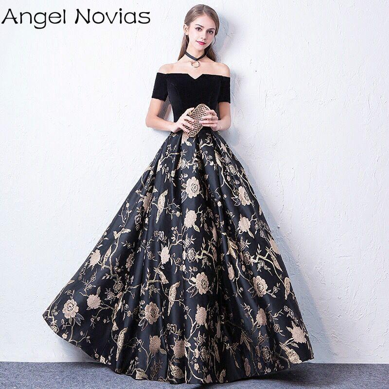 11154 24 De Descuentovestidos Largos Negros De Celebridades 2018 Corsé Espalda Sin Mangas Cuello En V Formal Vestido De Noche Angel Novias In