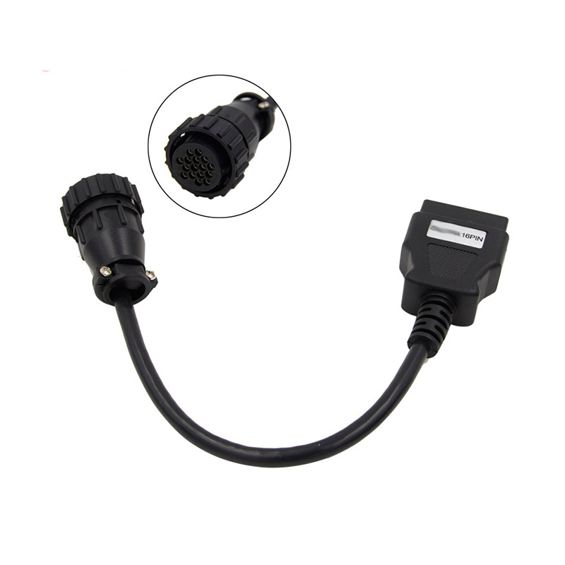 цены на 16pin OBD For SCANIA Truck To OBD2 16pin OBD Extension Cable 16 Pin OBD2 Connector Compatible TCS CDP Diagnostic Tool