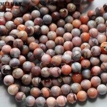 Großhandel (2 stränge/set) natürliche 5,5 6mm erstaunliche Rosa Botswana agatee runde lose perlen für schmuck machen