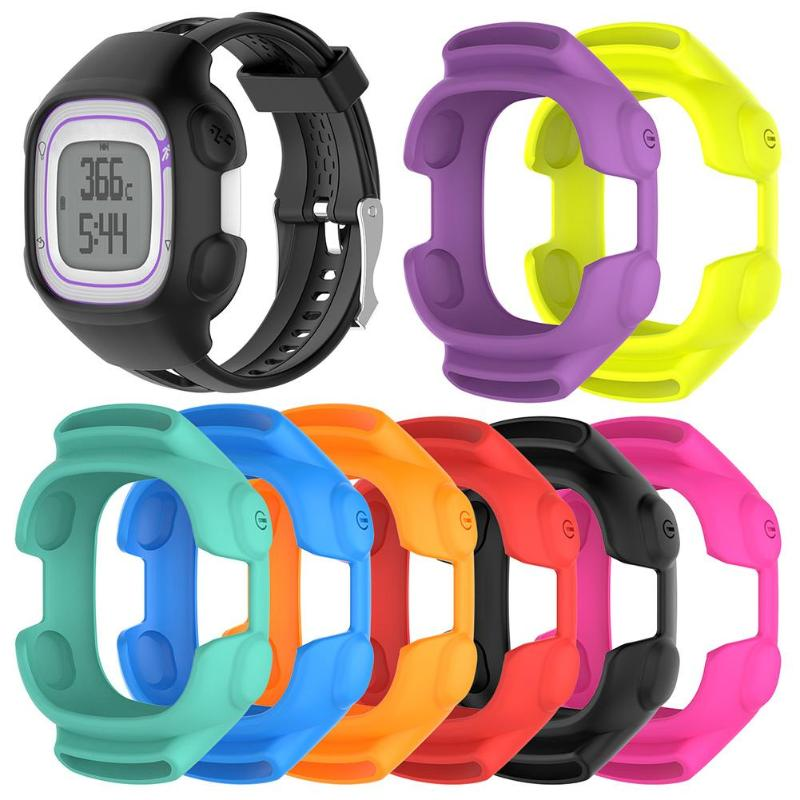 1Pcs S/L Size Soft Silicone Smart Watch Protective Case Cover for Garmin Forerunner 10/15 Wristband Bracelet Protector Shell New