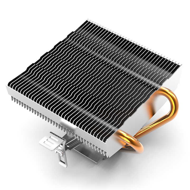 Aigo PC وحدة المعالجة المركزية مروحة التبريد برودة 2 النحاس أنبوب مروحة تبريد لوحدة المعالجة الرئيسية المبرد مبادل حراري من الألومنيوم وحدة المعالجة المركزية برودة ل LGA/1156/1366/AM3/AM4/1366
