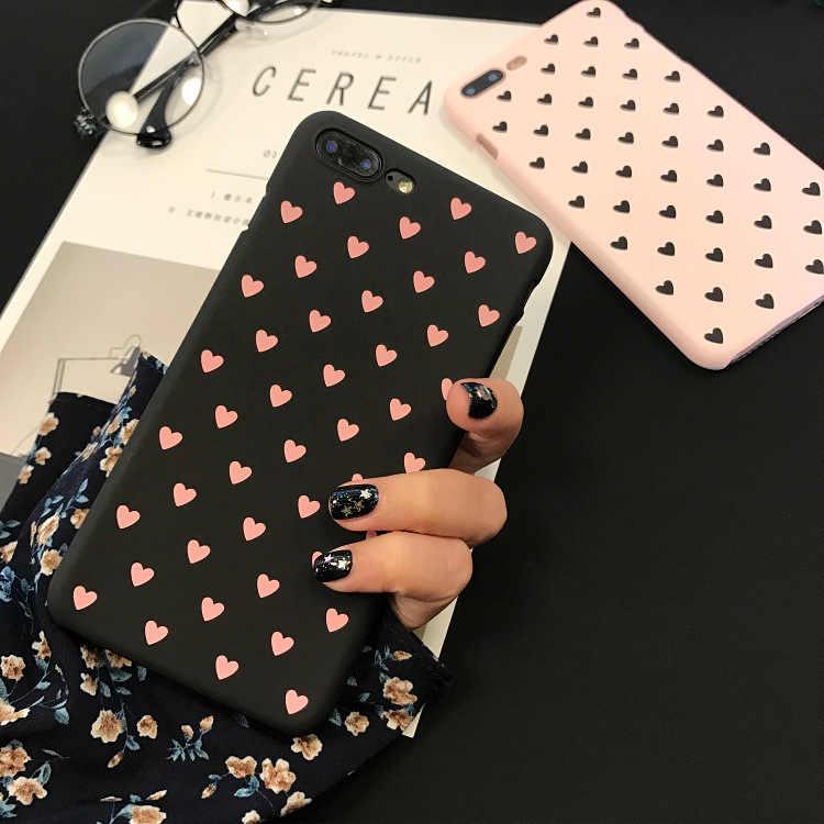 Чехол для iphone X 6 7 8 5 5S se, чехол для Fundas iphone 6s 6 s XS Max XR 8 7 Plus, жесткий чехол с сердцем, любовь, черный, красный, розовый, чехол для телефона