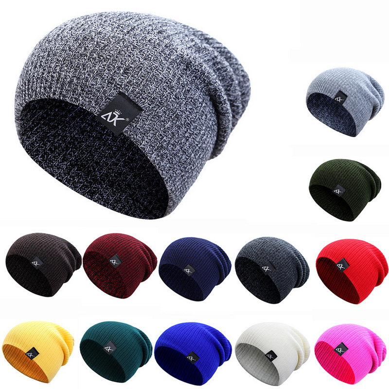 Womens Winter Hat Knitted Wool Beanie Female Fashion Casual Outdoor Mask Caps Thick Warm Hats for Women