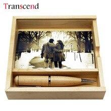 Transcend 64GB maple Wooden pen Usb box 8GB 16GB usb flash drive 64GB pendrive USB2 0
