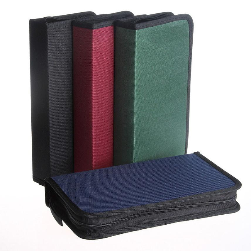 OUSSIRRO 80 Discs CD VCD DVD Storage Holder Cover Carry Case Bag Multicolor Orananizer Drop Shipping Happy Sale