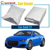 Cawanerl Full Car Cover Anti UV Rain Snow Sun Resistant Car Sun Shade Accessories Dustproof For Audi TT