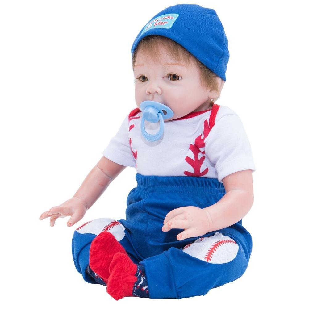 55 cm Simulation renaissance bébé poupée jouet poupée doux Silicone cadeau de noël