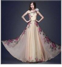 Европейская и американская мода элегантный темперамент одно плечо печать красивые пикантные женские длинные шваброй пол платье