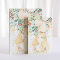 Brand New Cute Little Girl Printed Drawing Sketch Notebook A5 B5 Blank Stitching Binding Handwriting Folios
