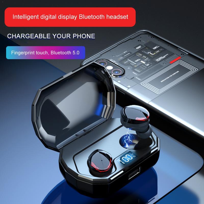 TWS Wireless Bluetooth 5 0 Earphones Headphones Blutooth Earphone Handsfree Headphone Sports Earbuds Gaming Phone Headset YZ260 in Bluetooth Earphones Headphones from Consumer Electronics