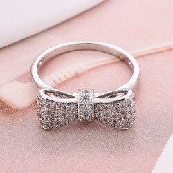 925 Anillos Gümüş Köpüklü Yay Düğüm üst üste takılabilir bilezik Mikro Açacağı CZ Kadınlar Için sevgililer Günü Hediye Takı Toptan Sürü Toplu