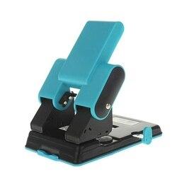 Punzón resistente de 2 orificios; 6mm orificios, 70mm o 80mm distancia ajustable del orificio, 70 capacidad de la hoja, fácil de presionar hacia abajo, suave