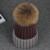 2016 Algodão 15 CM 100% Real Pele De Guaxinim Pompom Chapéus de Inverno Cor da mistura Quente Marca Casual Malha Mulheres De Pele Chapéus Skullies gorros