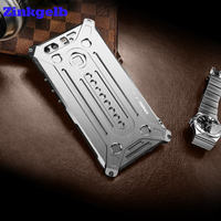 For Huawei P9 Case Luxury Aluminum Metal Frame Bumper Hard Armor Protective Back Phone Case For