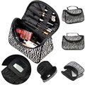 New Fashion Portable Zebra Strips Waterproof Wash Storage Bag Make Up Organizer Box Beauty Case Travel Pouch Makeup Tool Kit