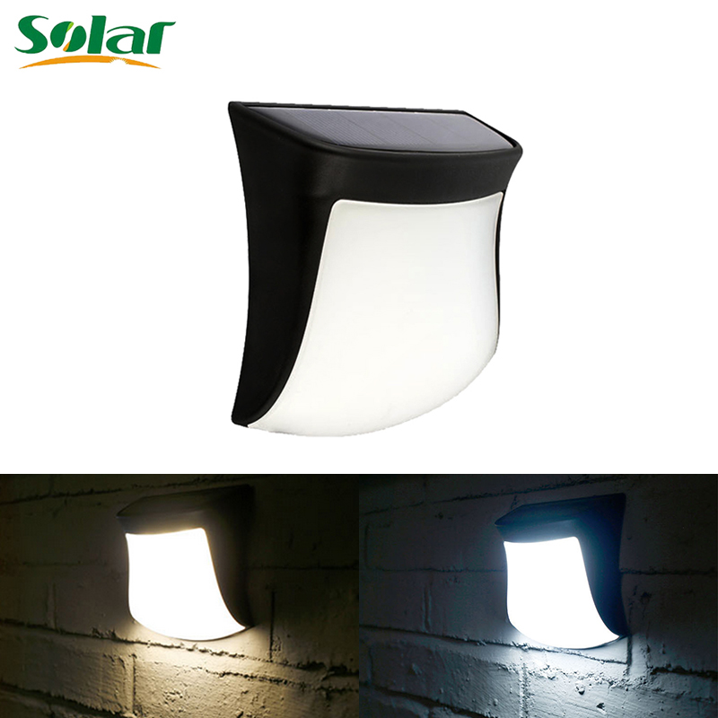 3pcs Solar Powered Wall Fence Doors Stair Step Lights Outdoor Lighting 30LM LED