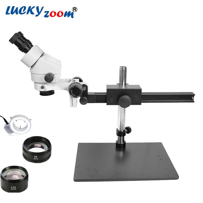 Lucky Zoom Professional 3 5X 90X Phone Repair Microscope Binocular Stereo Zoom Microscope Board Soldering Microscopio