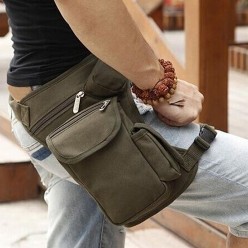 ALI shop ...  ... 32948142327 ... 3 ... Men Canvas Drop Leg Bag Waist Fanny Pack Belt Military Travel Motorcycle Multi-purpose Messenger Shoulder Bags ...
