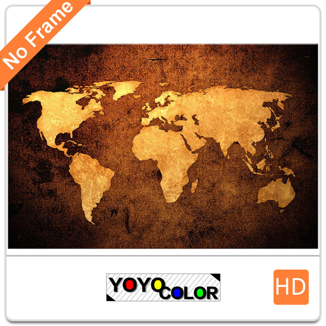 Yellow world map large hd canvas print painting artwork unique yellow world map large hd canvas print painting artwork unique wall art picture gift gumiabroncs Gallery